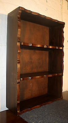 Good Art Deco walnut hanging shelves bookcase 1930s spice rack
