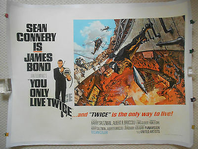 You Only Live Twice, Original UK Quad Poster, Sean Connery is James Bond 007, 67