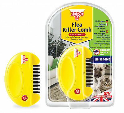 Zero  Flea Killer Zapper Comb For Dogs Cats No Poison or Chemicals