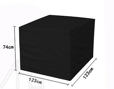 Outdoor Heavy Duty Waterproof Rattan Cube Cover Garden Furniture Rain Protection