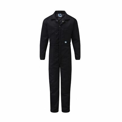 Adults Workman Overalls Coverall Work Wear Boiler Suit Outfit Navy Pop Fasten