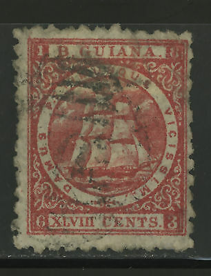 British Guiana  1866  Scott #  69  USED