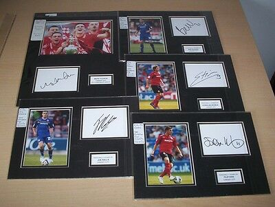Cardiff City - 5 x Signed Mounted Displays Season 2012/13 CLEARANCE SALE