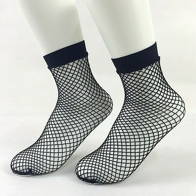Womens Girls Ladies Hollow-out Black Fishnet Mesh Net Short Socks Ankle Socks