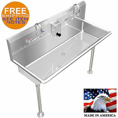 """Hand Sink, Lavatory Multiuser, 2 Users 48"""" Stainless S."""