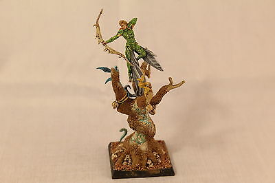 Warhammer Wood Elf Lord in Tree Pro Painted