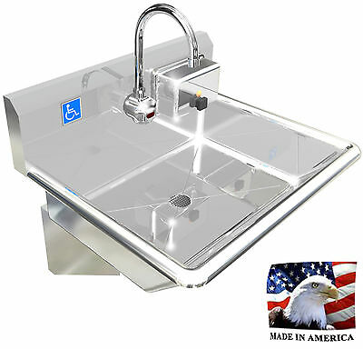 """Ada 1 Station 24"""" Hand Wash Sink Electronic Faucet Hands Free. Made In America"""