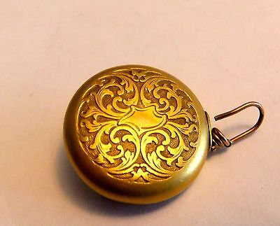 1910 Ketcham McDougall Gold Filled Eyeglass Holder with Safety Catch Chatelaine