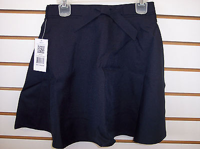 Girls IZOD Navy Uniform Flared Skort Size 10