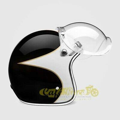 Visiera BUBBLE FLIP-UP trasparente tipo biltwell bandit bolla cafe racer