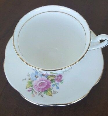 Clare Flowers Tea Cup and Saucer made in England