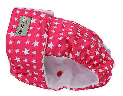 Glenndarcy Female Dog Season Nappy Diaper I Heat Pants I Starry Pink