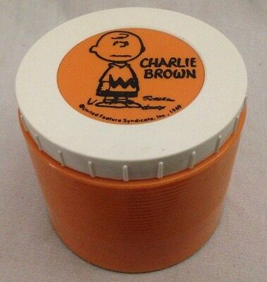 VINTAGE 1969 CHARLIE BROWN COLLECTIBLE WIDE MOUTH INSULATED JAR by THERMOS