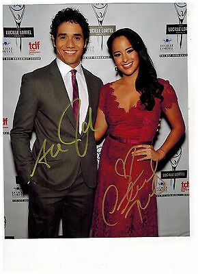 COURTNEY REED--JASMINE-and-ADAM JACOBS -ALADDIN ON BROADWAY Signed Photo 8x10