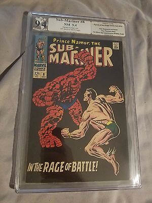 Sub-Mariner 8 1968 Marvel PGX 9.4 SIGNED STAN LEE