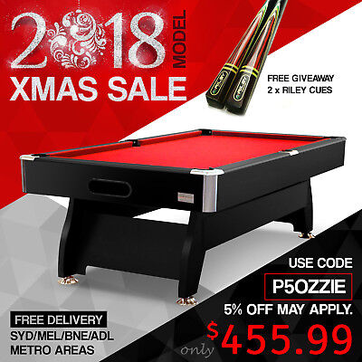 7FT Modern Design Walnut / Black Pool Table for Snooker Billiards Free Accessory