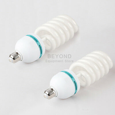 2x 105W 5500K Photo Studio Fluorescent Bulb Daylight Continuous Light Lamp CFL