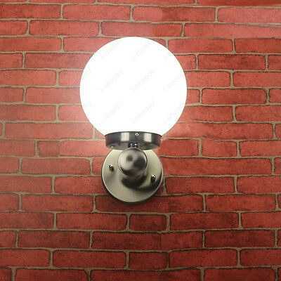 Outdoor 10W LED Wall Sconces Light Fixture E27 Bulb Stainless Steel Lamp Balcony