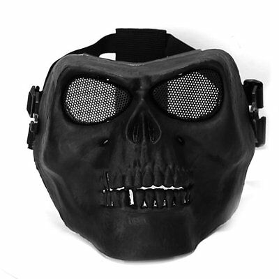 Full Face Protect Mask Scary Skull Skeleton Airsoft Paintball Hunting