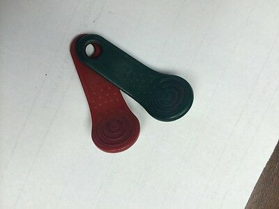 time tab RED and GREEN 12 total Exaktime Jobclock Keytabs new for work timepilot