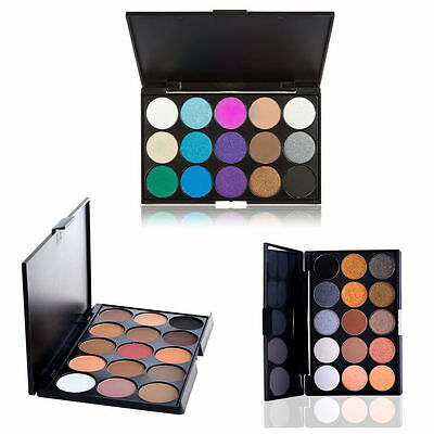 New Professional 15 Colors Matte Shimmer Eyeshadow Palette Makeup Cosmetic kit