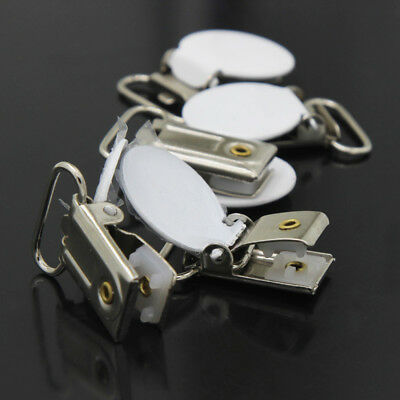 10PCS Metal Suspender Bib Pacifier Holder Dummy Clips Buckle Teething Sewing NEW