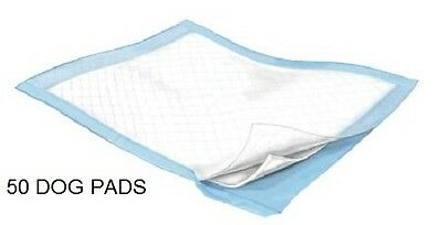 50 - Dog Puppy 23x24 Pet Housebreaking Pad, Pee Training Pads,  Underpads