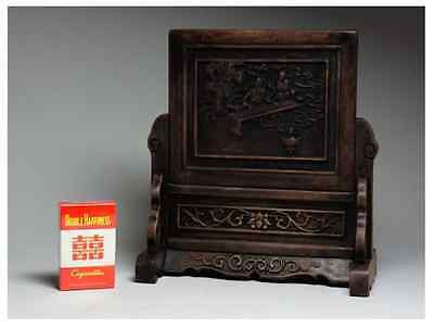 Chinese Qing Dynasty Wooden Screen 硯屏 /  KENBYO / W 25× H 26.5 [ cm ] 901g