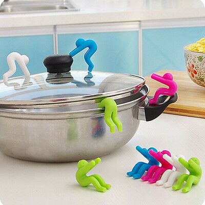 2PCS Silicone Holder Cooking Gadget Spill-proof Lid Kitchen Chopsticks Rest