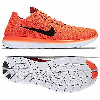 Nike Free RN Flyknit 831069-600 Bright Crimson/Black/Red Men's Running Shoes