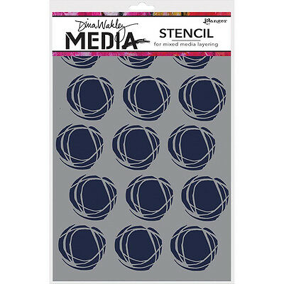 Dina Wakley Media Stencil - Fractured Circles
