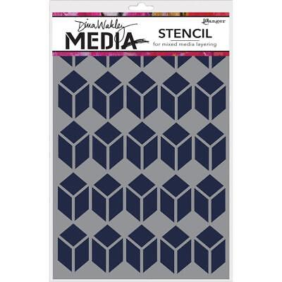 Dina Wakley Media Stencil - Stacked Squares