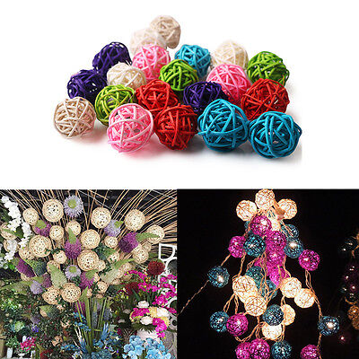 20pc 3cm Rattan Wicker Cane Balls for Garden Patio Wedding Party Home Decoration