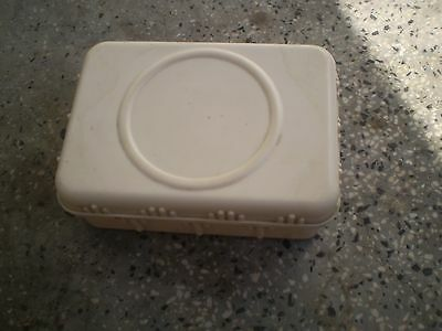 Vintage  Old  Large White Bakelite Box Mid Century