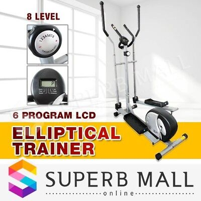 Elliptical Cross Trainer Bicycle Step Machine Home Gym Exercise Fitness Bike