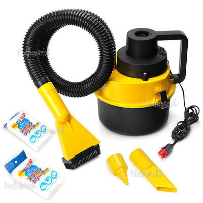 Portable Vehicle Auto Dust Handheld Car Vacuum Cleaner Wet & Dry Yellow 12V OZ