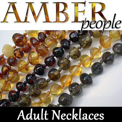 ADULT Baltic Amber Gemstone NECKLACE (46cm) Natural Healing
