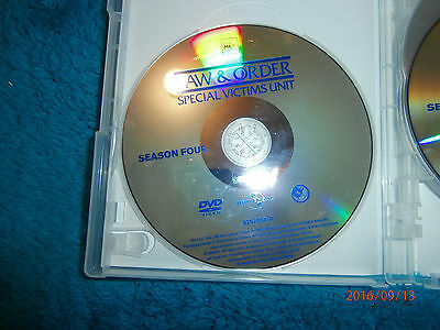 Law & Order Special Victims Unit SVU Season 4 Disc 1 (DVD) Disc Only 5 episodes