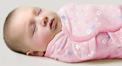 Brand New Summer Swaddle Me Cotton Girl Easy Wrap Swaddle Size Newborn to 4mths