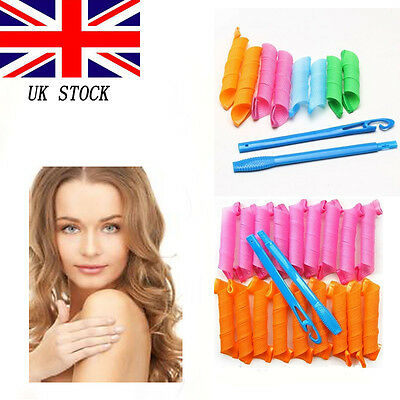 40pcs 55cm DIY Hair Rollers Curlers Magic Circle Twist Spiral Styling Tools