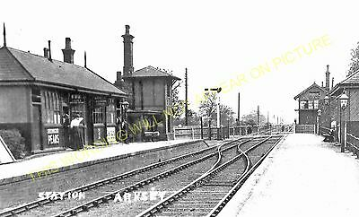 Arksey Railway Station Photo. Doncaster to Moss, Blane and Heck Line. GNR. (3)