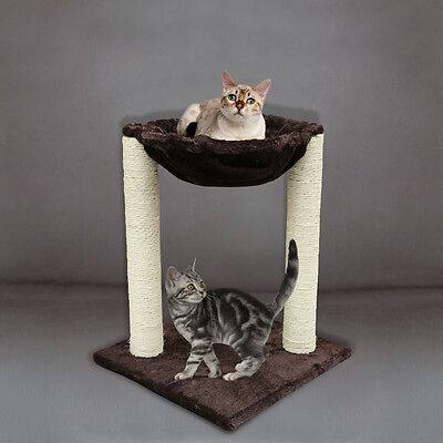 "20"" Cat Tree Furniture Kitten Scratching Condo Scratcher Post Pet Play House"