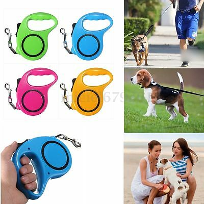 3/5m Retractable Extendable Pet Puppy Dog Cat Lead Cord Walking Training Leash