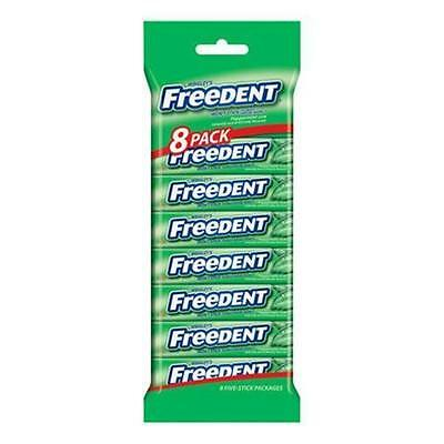 Wrigley's Freedent Chewing Gum Peppermint 8 Pack