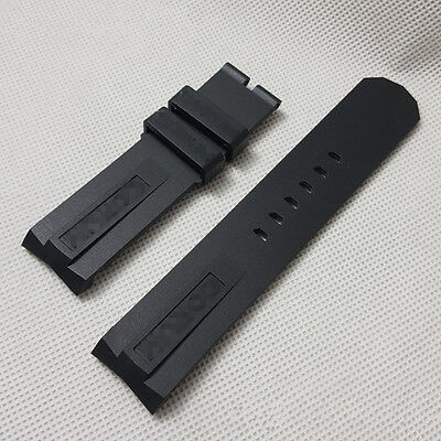 22mm black rubber watch strap diving silicone band for Corum Admiral's Cup
