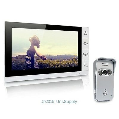 "9"" Wired Video Door Phone Home Intercom System 1 Monitor 1 Silver Camera 700TVL"