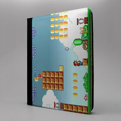 Vintage Mario Flip Case Cover For Apple iPad - G1015