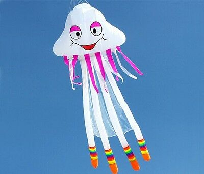 NEW High Quality 16ft 5m Power Jellyfish Software Kite Ripstop Nylon 3D