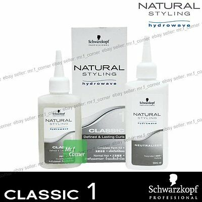 Schwarzkopf Hydrowave Natural Style Curls Classic 1 Perm Kit - Normal Hair