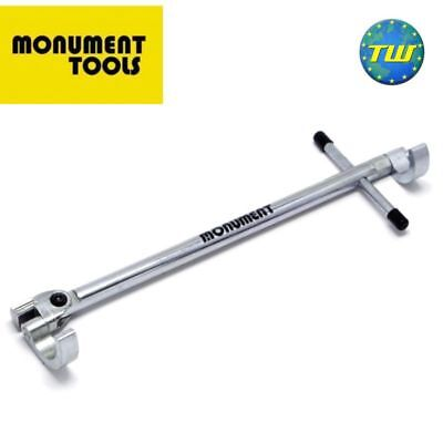Monument 345V Adjustable Basin Wrench 15 & 22mm Bathroom Sink Bath Tap Spanner